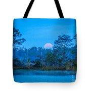 Moonset At The Hungryland Tote Bag