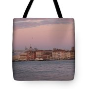 Moonset Over Venice Tote Bag