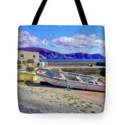 Moored Boat On Purteen Harbour Tote Bag