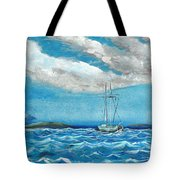Moored In The Bay Tote Bag