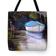Moored Rowing Boat Tote Bag