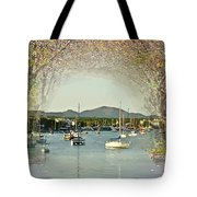 Moored Yachts In A Sheltered Bay Tote Bag