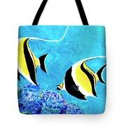 Moorish Idol Fish  #50 Tote Bag