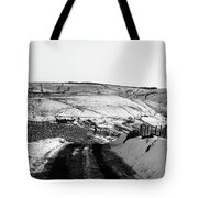 Moorland In The Snow Tote Bag