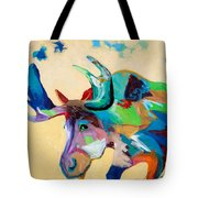 Moose And Blue Clouds Tote Bag