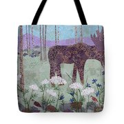 Moose And Three Sparrows Tote Bag