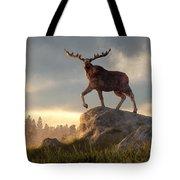Moose At Dawn Tote Bag
