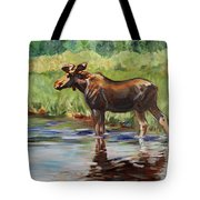 Moose At Henry's Fork Tote Bag