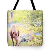 Moose In The Yard Tote Bag