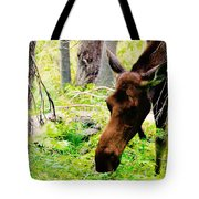 Moose Munching Tote Bag