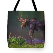 Moose On The Loose Tote Bag