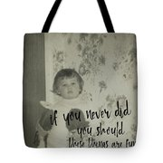 Moppets Quote Tote Bag