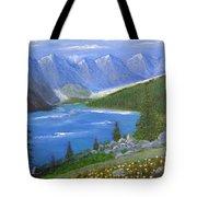 Moraine Lake, 16x20, Oil, '07 Tote Bag