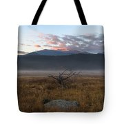 Moraine Valley Fog Tote Bag