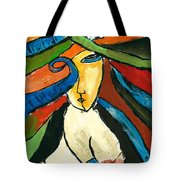 Morden Art Girl Tote Bag