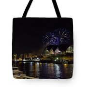 More Fireworks At Newcastle Quayside On New Year's Eve Tote Bag