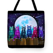 More Moonlight Meowing Tote Bag