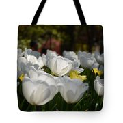 More White Tulips Tote Bag