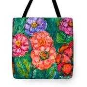 More Zinnias Tote Bag