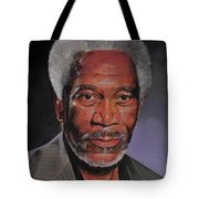 Morgan Freeman Portrait Tote Bag
