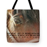 Morgan Horse Quote Tote Bag