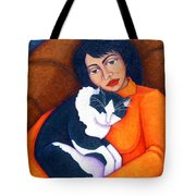 Morgana With Woman Tote Bag