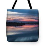 Morii Lake At Sunset Tote Bag