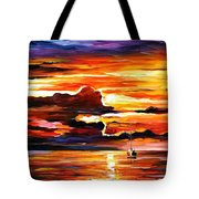 Morning After The Storm - Palette Knife Oil Painting On Canvas By Leonid Afremov Tote Bag