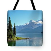 Morning At Lake Maligne, Canada Tote Bag