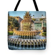 Morning At Pineapple Fountain Tote Bag
