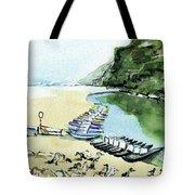 Morning At Porto Novo Beach Tote Bag