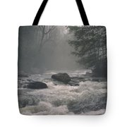 Morning At The River Tote Bag