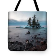 Morning At The Tombolo Tote Bag