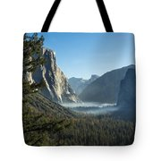Morning At Tunnel View Tote Bag