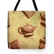 Morning Breakfast Chocolate Tea Set  Tote Bag