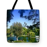 Morning By The Lake Tote Bag