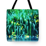 Morning By The Pond Tote Bag