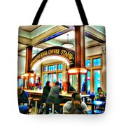 Morning Call Coffee Stand Tote Bag