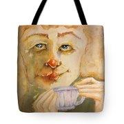 Morning Coffee Girl Tote Bag