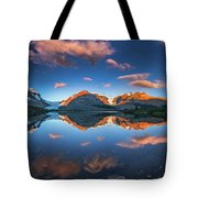 Morning Colors At Ice Field Center Tote Bag