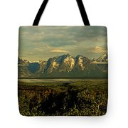 Morning Dawns On The Tetons Tote Bag