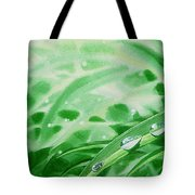 Morning Dew Drops Tote Bag by Irina Sztukowski