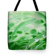 Morning Dew Drops Tote Bag