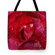 Morning Dew On Rose Tote Bag