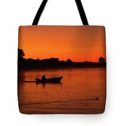 Morning Fishing On The Lake Tote Bag
