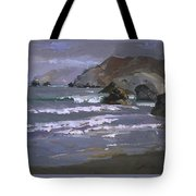 Morning Fog Shark Harbor - Catalina Island Tote Bag