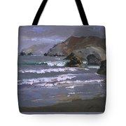 Morning Fog Shark Harbor - Catalina Island Tote Bag