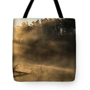 Morning Fog In The Boundary Waters Tote Bag