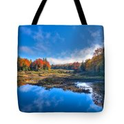 Morning Fog On The Moose River Tote Bag