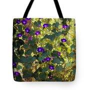 Morning Glories Tote Bag by Margie Hurwich